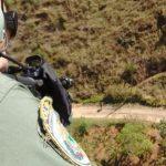 Agentes da Divisão de Operações Aéreas usaram helicóptero para localizarem    suspeito (foto: Cedida pela PRF)