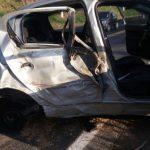 Carro conduzido por Ronaldo ficou bastante danificado(Foto: Cedida por Foco Regional)