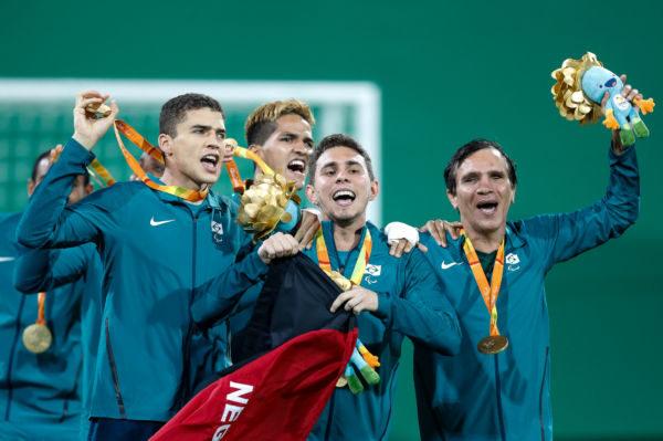 Time de futebol de 5 é ouro paralímpico (Foto: Washington Alves/MPIX/CPB)