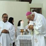 Bispo: Dom Francisco Biasin (à direita) agradeceu as manifestações de carinho em seu aniversário (Foto: Divulgação)