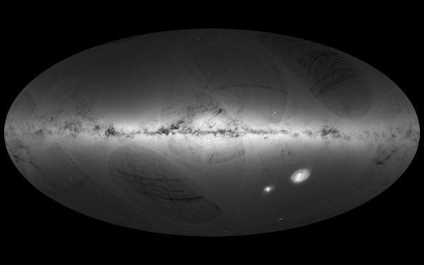 Imensa: A Via Láctea e as nuvens de Magalhães no mapa da ESA