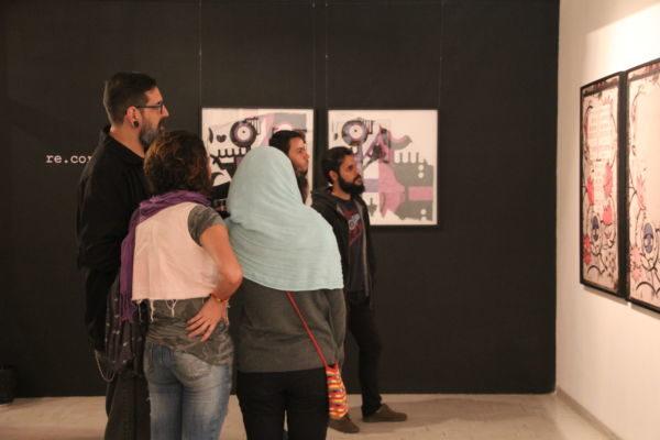 'Re.Corte.Cole': Obras fazem parte do material coletado a partir de cartazes que Rafo colou nas ruas e foi acompanhando a sua degradação (Foto: Divulgação)