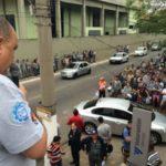 Mobilização: Silvio Campos fala a trabalhadores na entrada da Votorantim Barra Mansa