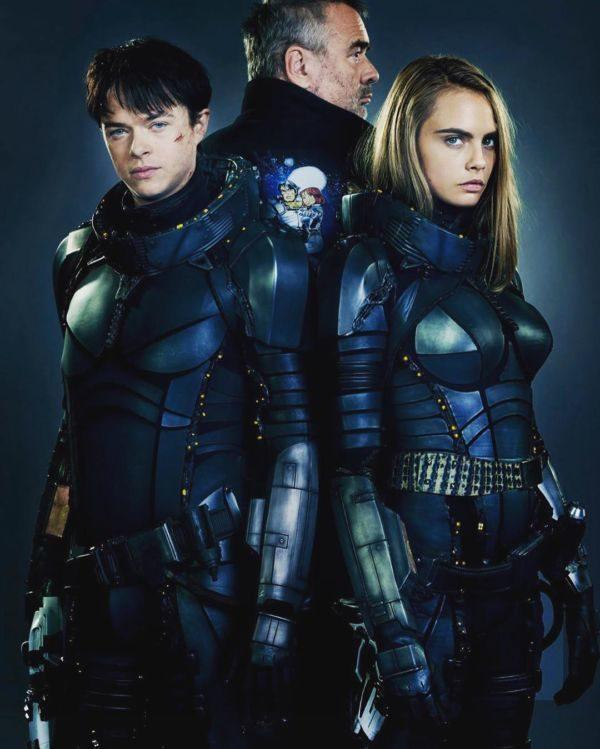 Elenco: Luc Besson com o casal de atores