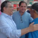 Em campanha: Nelson Gonçalves e seu vice Rogério Loureiro falam de propostas de governo (Foto: Divulgação)