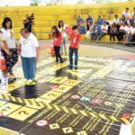 Trânsito seguro: Atividades de conscientização e lazer foram realizadas no Memorial Zumbi, na Vila Santa Cecília (Foto: Divulgação PMVR)