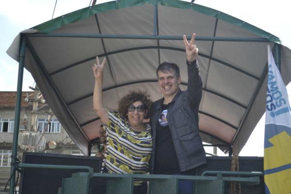 Em campanha: Primeira ação proposta por Tereza e Furtado na área de segurança pública, caso eleitos, é a criação da Sasep (Foto: Divulgação)