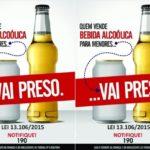 Campanha busca conscientizar a população sobre o álcool entre menores (Foto: Divulgação PMVR)