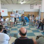 As reuniões do GAABM são realizadas no salão da paróquia Santo Antônio,