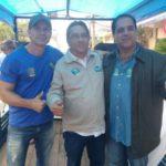 Tulio Maravilha, Nelson e Loureiro no último dia de campanha em Volta Redonda (foto: Divulgação)