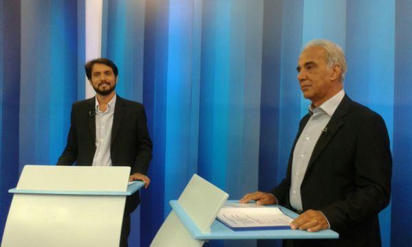 Samuca e Baltazar participam de debate em TV (foto: Paulo Dimas)