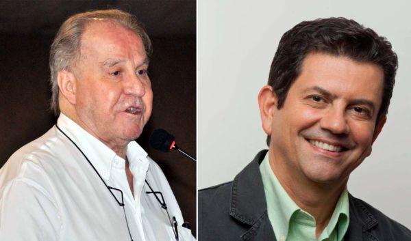 Otávio Leite, presidente estadual do PMDB, declara apoio a Samuca, em reunião com Pedro Magalhães