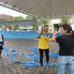 Nos preparativos: Comunidade católica se uniu para organizar evento que ocorre neste fim de semana (Foto: Divulgação)