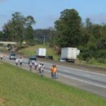 Na rodovia: Após feriado do último dia 12, romeiros continuam seguindo em direção ao Santuário Nacional de Aparecida (Foto: Divulgação)