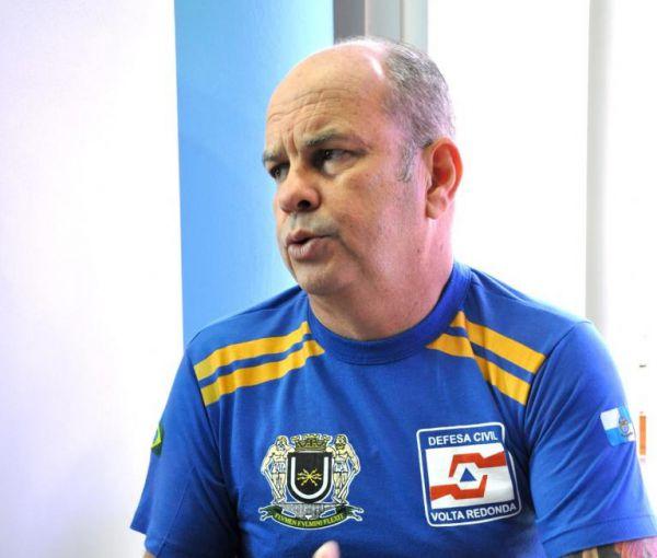 Em alerta: Coordenador da Defesa Civil, Rubens Siqueira, destacou que Volta Redonda possui 25 locais com pontos de vulnerabilidade (Foto: Arquivo/Divulgação PMVR)