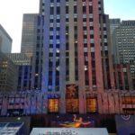 Montagem do Rockefeller Center em Nova Yorque pra transmissão da apuração da eleição dos EUA (foto: Divulgação)