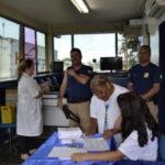 Conscientização: Motoristas fazem exames e recebem orientações de profissionais da Saúde (Foto: ACS)