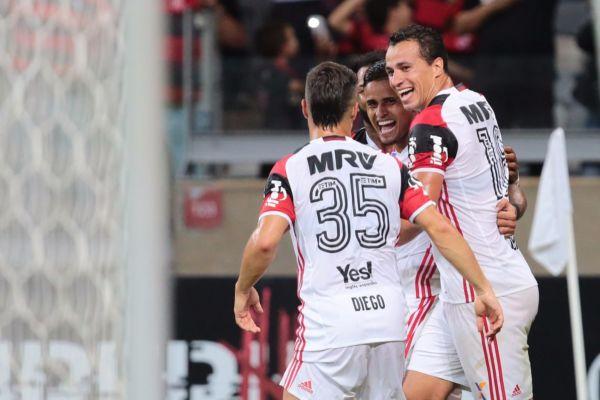 No Mineirão: Everton marcou o único gol da partida, ainda no primeiro tempo e deu a vitória ao Flamengo (Foto: Staff Images / Flamengo)