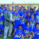 Campeões: Meninos da Liga de Desportos de Volta Redonda venceram a Seleção de Cambuci (Foto: Divulgação)