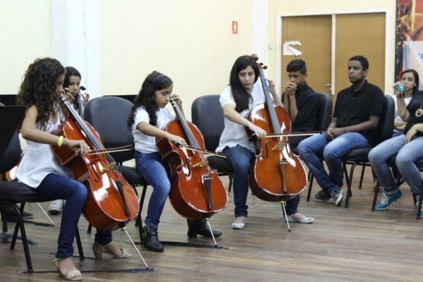 Gratuita: Alunos e professores do Projeto Música nas Escolas realizam duas semanas de intensa programação artística (Foto: Divulgação)