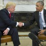 Primeiro encontro: Obama e Trump passaram cerca de uma hora e meia juntos no Salão Oval da Casa Branca (Foto: Agência Lusa)