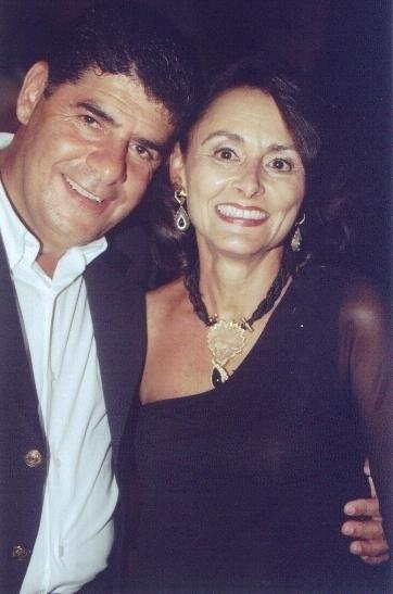 O empresário Elias Salume e Márcia Moreira