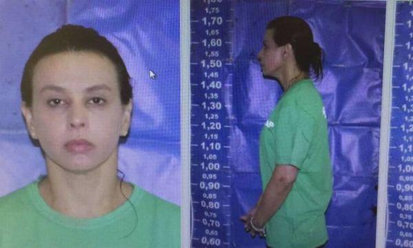 Em Bangu: Adriana Ancelmo após ser presa e levada para o complexo penitenciário de Gericinó (Foto: Reprodução/WhatsApp)