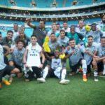 Festa: Ainda em campo, jogadores comemoraram a ida à Libertadores da América do ano que vem (Foto: Botafogo.com.br)