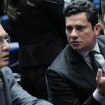 Abuso de Autoridade: Juiz Sérgio Moro e ministro do Supremo Tribunal Federal Gilmar Mendes estiveram nesta quinta-feirano Senado (Foto: Geraldo Magela/Agência Senado)