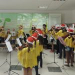 Música e alegria: Coro Infantil da Igreja Batista do Conforto surpreendeu a todos com músicas ao som de violinos (Foto: Divulgação)