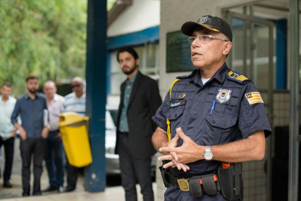 Novo comandante: Dalboni pretende resgatar autoestima e entusiasmo dos guardas municipais de Volta Redonda (Foto: Divulgação PMVR/Gabriel Borges)