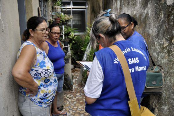 Agentes estão realizando trabalhos preventivos nas Unidades de Saúde da Família (foto: Paulo Dimas)