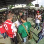 Militares da Aman, Cruz Vermelha e voluntários participaram da ação realizada neste sábado
