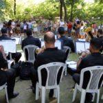 Orquestra sinfônica fez apresentação no Parque de Saudade, que reabriu neste sábado (foto: Chico de Assis - PMBM)