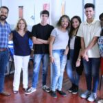 Alunos do Colégio Estadual Célio Barbosa Anchite, de Pinheiral, foram cadastrados na plataforma lattes (Foto: Divulgação Unifoa)