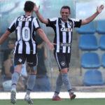 Destaque: Argentino Montillo marcou seu primeiro gol com a camisa do Botafogo (Foto: Vitor Silva/SSPress/Botafogo)