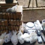 Policiais militares encontraram grande quantidade de drogas em condomínio de Resende (foto: Cedida pela PM)