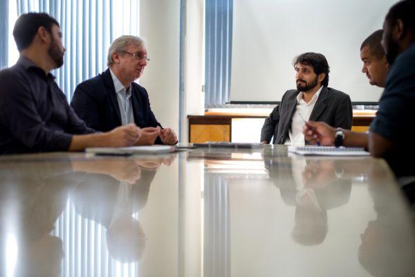 Samuca se reúne com Celso Pansera e discute projetos para Volta Redonda (foto: Gabriel Borges - PMVR)