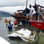 Buscas estão sendo feitas desde início da tarde no mar de Paraty (Enviada pelo WhatsApp)