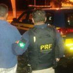 Motorista foi levado para a Delegacia de Barra Mansa (foto: Cedida pela PRF)