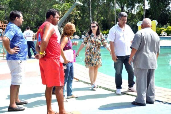 Análise: Nova administração esteve no Parque Aquático fazendo um balanço do que é preciso fazer (Foto: Geraldo Gonçalves/Ascom VR)