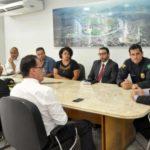 Samuca se reuniu com representantes da segurança pública nesta quinta-feira (Foto: Geraldo Gonçalves/PMVR)