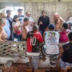 Cerca de 10 pessoas invadiram a área do antigo Clube de Malha Vasco da Gama, no Retiro (Foto: Gabriel Borges/PMVR)