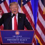 Trump fez discurso para multidão na chegada a Washington