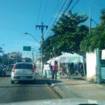 Mulheres continuam mobilizadas na porta do batalhão de Volta Redonda (Rafael Paiva)