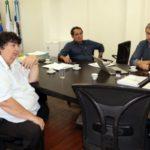 Na última semana: Deley foi a Barra Mansa, junto com o ex-prefeito de Volta Redonda, Antonio Francisco Neto, se reunir com Rodrigo Drable (Foto: Chico de Assis /PMBM)