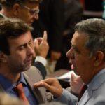 Debate: Picciani e Freixo têm posições opostas na questão da Cedae  (Tânia Rêgo/Agência Brasil)
