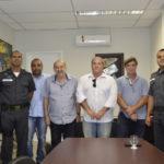 Reunião: Encontro no gabinete de Serfiotis busca melhoria de segurança