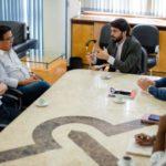 Samuca se reúne com representantes da rede de supermercado que quer expandir negócios