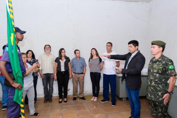 Cerimônia: Mario Esteves toma posse oficialmente como presidente da Junta Militar (Foto: PMBP)